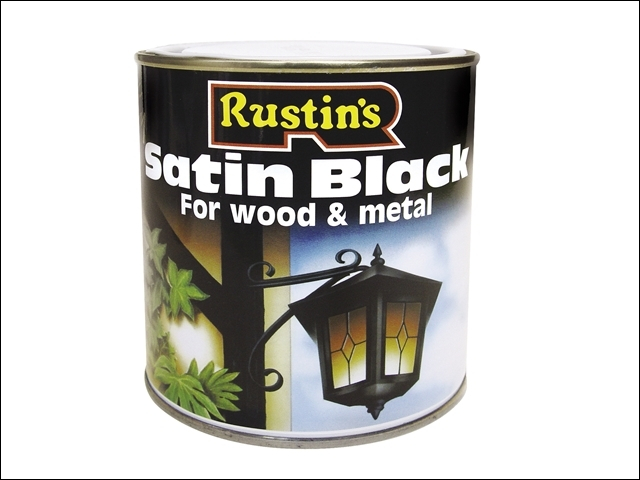 Satin Black Paint Quick Drying 500ml