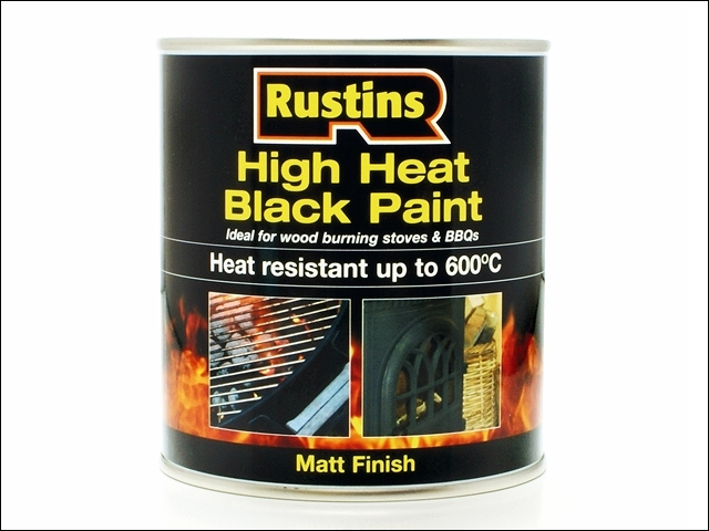 High Heat Paint 600C Black 50 0ml