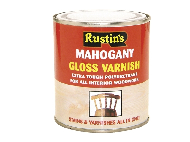 Polyurethane Varnish & Stain Gloss Mahogany 250ml