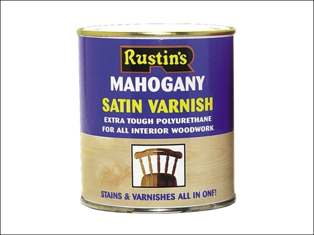 Polyurethane Varnish & Stain Satin Oak 250ml