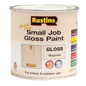 Quick Dry Small Job Gloss Paint Magnolia 250ml