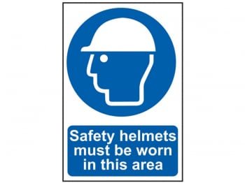 Safety Helmets Must Be Worn In This Area - PVC 200 x 300mm