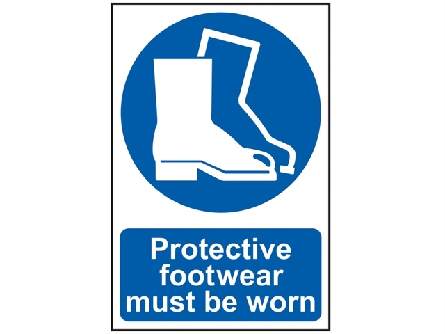 Protective Footwear Must Be Worn - PVC 200 x 300mm