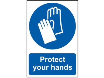 Protect Your Hands - PVC 200 x 300mm