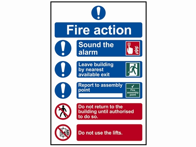 Fire Action Procedure - PVC 200 x 300mm