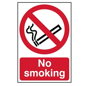 No Smoking - PVC 200 x 300mm