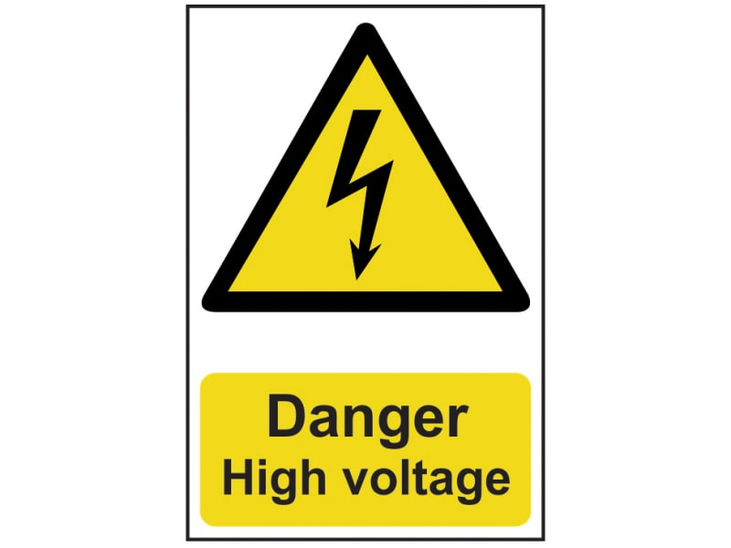 Danger High Voltage - PVC 200 x 300mm