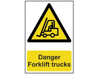 Danger Forklift Trucks - PVC 200 x 300mm