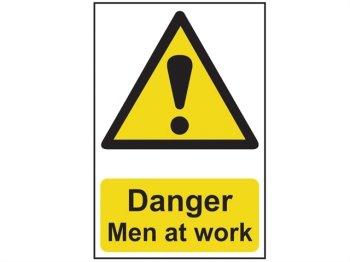 Danger Men At Work - PVC 200 x 300mm