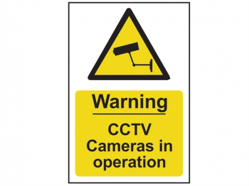 Warning CCTV Cameras in Operation - PVC 200 x 300mm