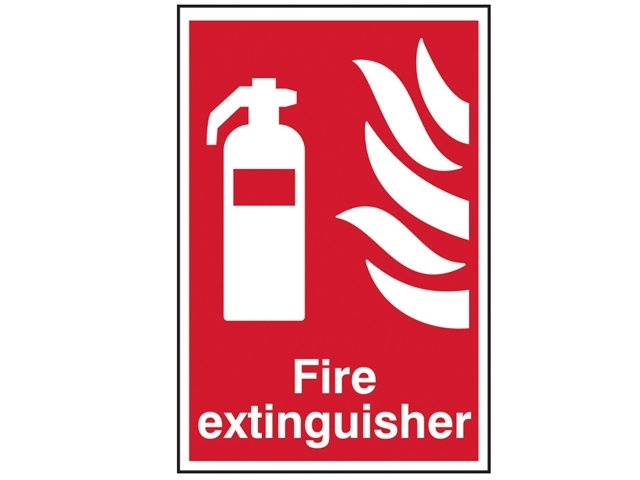 Fire Extinguisher - PVC 200 x 300mm