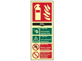 Fire Extinguisher Composite CO 2 - Photoluminescent 75 x 200m