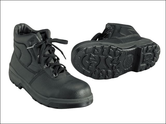 4 D-Ring Chukka Black Safety Boots UK 8 Euro 42