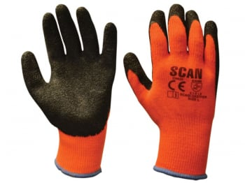Thermal Latex Coated Gloves - L (Size 9)