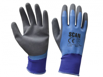 Waterproof Latex Gloves - Large (Size 9)