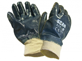 Nitrile Knitwrist Heavy-Duty Gloves