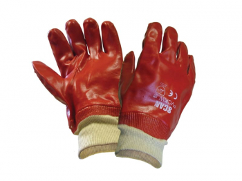 PVC Knitwrist Gloves - L (Size 9)