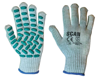 Vibration Resistant Latex Foam Gloves - L (Size 9)