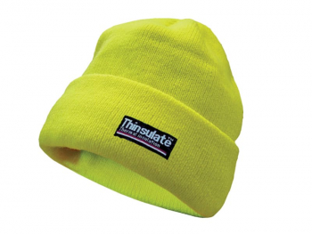 Hi-Vis Yellow Beanie Hat Thinsulate Lined