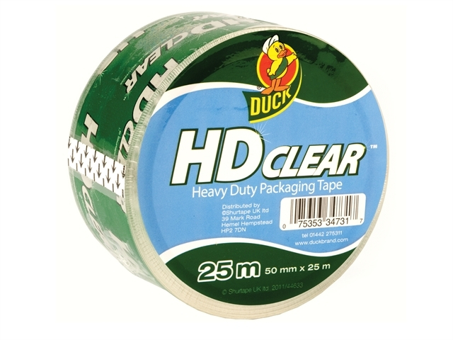 Duck Tape Packaging Heavy-Dut y 50mm x 25m Clear