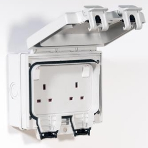 IP66 13A Socket with 24hr Timer 1 Gang