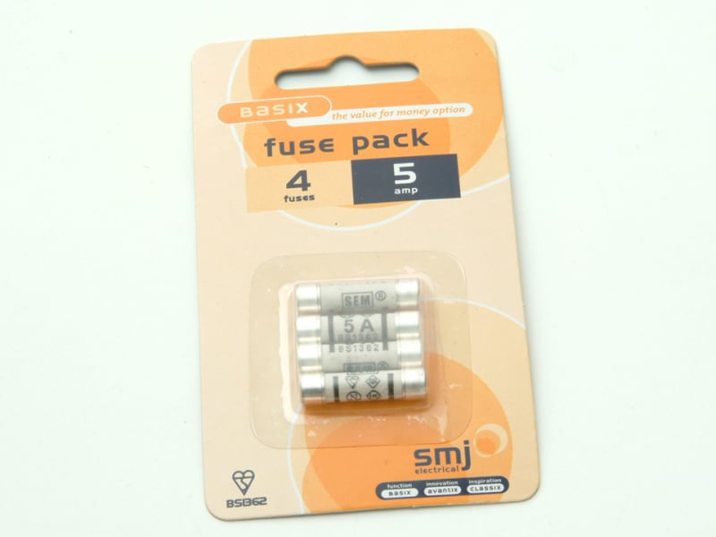 5A Fuses (Pack of 4)