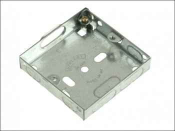 Metal Back Box 1 Gang 16mm Depth - Carded