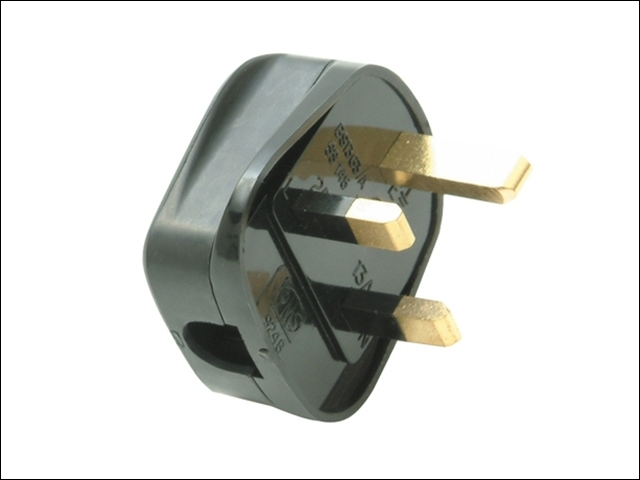 Black Plug 13A Fused (Trade Pack of 20)
