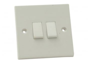 Light Switch 2-Gang 2-Way Clam Pack