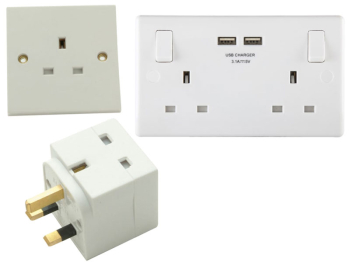 Unswitched Socket 2-Gang 13A Clam Pack