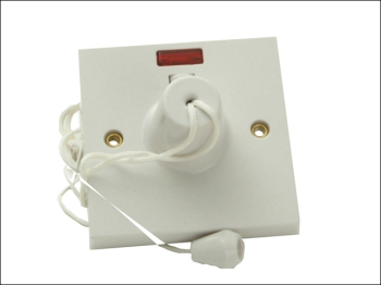 Ceiling Switch & Neon 45A Double Pole Clam Pack