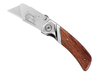 Folding Pocket Knife with Wooden Handle