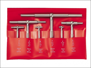 S579HZ Telescopic Gauge Set 6 Piece 8-150mm