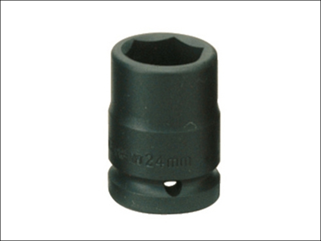 Impact Socket Hexagon 6 Point 1/2in Drive 15mm