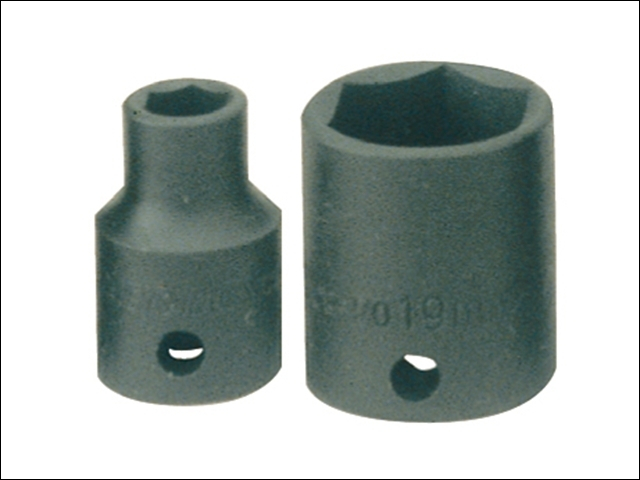 Impact Socket Hexagon 6 Point 3/8in Drive 17mm