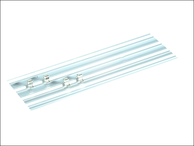 ALU450 45cm Single Track Socket Clip Rail