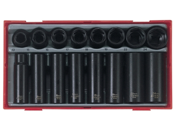 TT9116 Regular/Deep Impact Soc ket Set, 16 Piece- 1/2in Driv