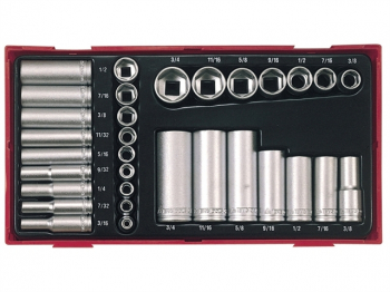 TTAF32 Regular/Deep Socket Set , 32 Piece - 1/4 & 3/8in Drive