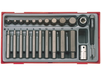 TTHEX23 Metric Hex Bit Socket Set, 23 Piece - 1/2in Drive