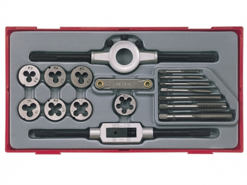 TTTD17 Rethreading Tap & Die Set, 17 Piece