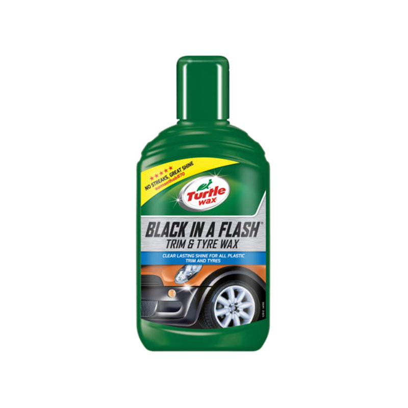 Black in a Flash Trim & Tyre Wax 300ml