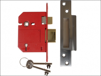 StrongBOLT 2200S BS 5 Lever Mo rtice Sashlock Satin Chrome 81