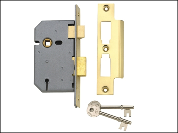 2277 3 Lever Mortice Sashlock Polished Brass 77.5mm 3in Box