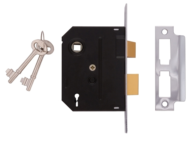 2295 2 Lever Mortice Sashlock Chrome Finish 63mm 2.5in Box