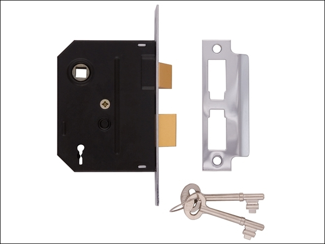 2295 2 Lever Mortice Sashlock Polished Brass 63mm 2.5in Box