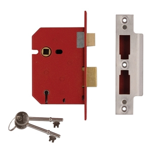 StrongBOLT 2200S BS 5 Lever Mo rtice Sashlock Satin Chrome 68