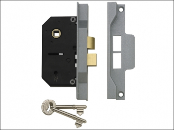 2242 2 Lever Mortice Rebated S ashlock Electro Brass 65.5mm 2