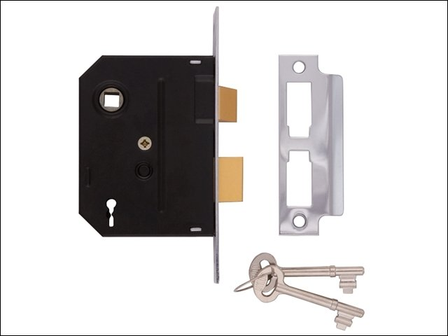 2295 2 Lever Mortice Sashlock Chrome Finish 63mm 2.5in Visi