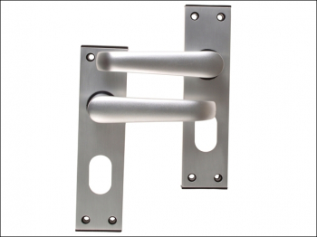Ambassador Oval Standard Plate Door Furniture Anodised Silve