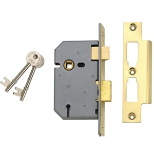 ES-SL Essentials 3 Lever Morti ce Sashlock Chrome 65mm 2.5in